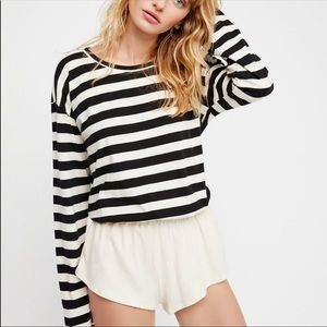 Free People beach striped romper small nwt